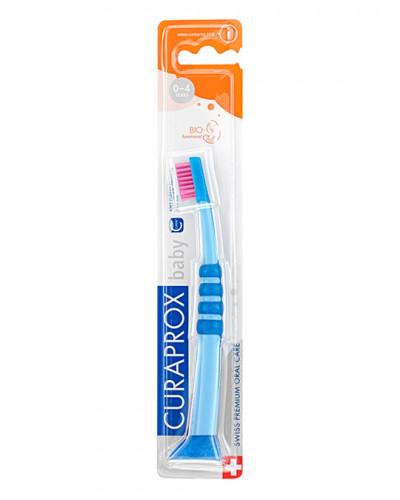 Baby tandborste blå-rosa