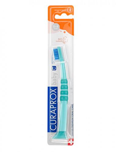 Baby tandborste grönt-blå
